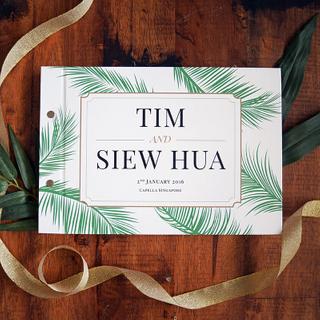 Personalised Wedding Guestbook - Tropical Love