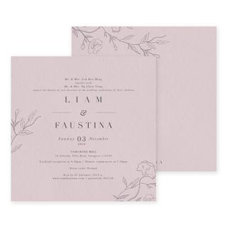 Wispy Florals - English Invite