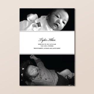 Classic Monochrome Birth Announcement