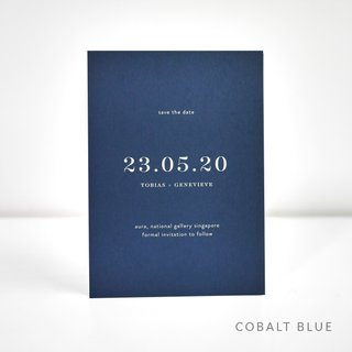 Classic White Ink Save the Date