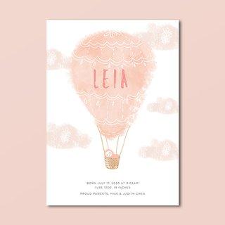 Hot Air Balloon Birth Announcement