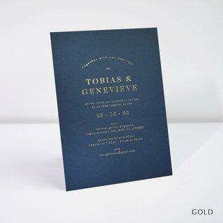 Classic Foil Wedding Invitation