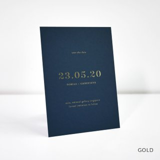 Classic Foil Save the Date