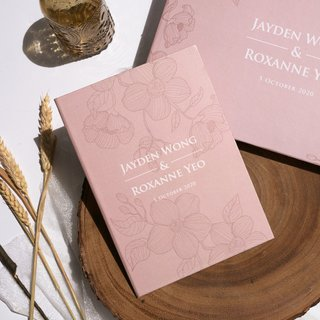 Personalised Vow Book - Dusty Pink Orchid