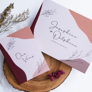 Personalised Wedding Guestbook - Modern Abstract